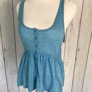 Abound Blue Size XS Junior Ruched Peplum Knit Top